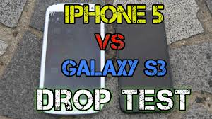 iphone 5 vs samsung galaxy s3 drop test youtube