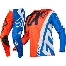 fox motocross clothes fox racing 2017 mx new 360 creo orange blue ktm jersey pants