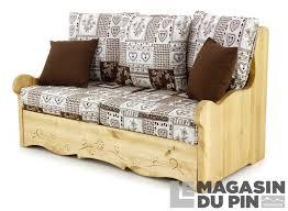 canapé en pin canapé 2 places pin massif vanoise blanc chocolat le magasin du pin