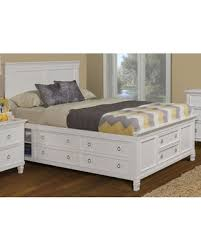 King Platform Storage Bed With Drawers Here U0027s A Great Price On Tamarack White King Platform Storage Bed