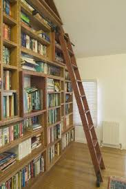 select custom joinery bamboo u0026 timber bookshelves with ladder