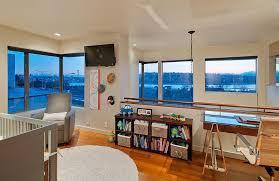Home Loft Office Modern Home Office With Pendant Light U0026 Hardwood Floors In Seattle