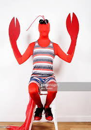 lobster costume dressed in lobster costume with claws stock photo getty images