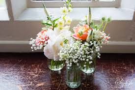 wedding flowers jam jars wedding flowers in surrey frensham heights