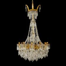 antique chandelier empire style french ormolu and crystal antique chandelier
