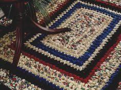 Rag Rug Directions Easy Rag Rug Directions Rag Rug Crochet Pattern Rag Rugs