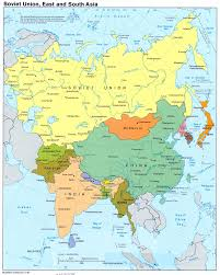 Countries In Asia Map by Soviet Union East And South Asia Large Map U2013 1987 Large Map Of