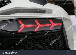 lamborghini back frankfurt sept 15 back light lamborghini stock photo 323163176