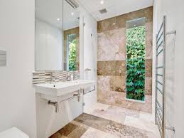Bathroom Design With Floortoceiling Windows Using Stone - Bathroom window designs
