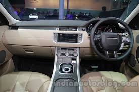 evoque land rover interior range rover evoque 9 speed dashboard at auto expo 2014 indian