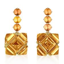 citrine earrings orange sapphire and pc citrine earrings grande paolo costagli