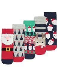 christmas socks 5 pack christmas socks kids george