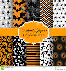 halloween free vector background halloween digital paper stock vector image 45383637