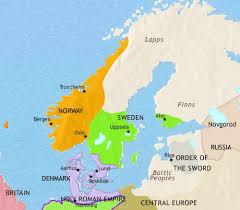 map of europe scandinavia map of scandinavia at 1215ad timemaps