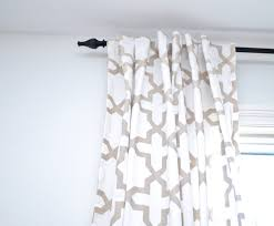 No Sew Project How To - how to customize ready made curtains an easy no sew project