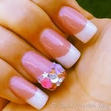 irresistible nails pink white bling irresistible icing