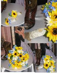 country wedding bouquets new silk sunflower bluebonnet country wedding rustic