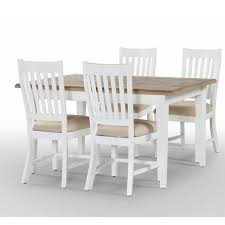 White Wood Dining Table - White and wood kitchen table