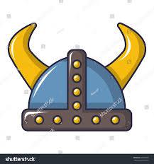 swedish viking helmet icon cartoon illustration stock vector