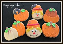 Halloween Pumpkin Sugar Cookies - nanny u0027s sugar cookies llc autumn cookies