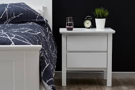 bedside table white modern b2c furniture