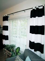 diy painted window curtains homey oh my