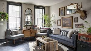 Rustic Living Rooms by In Kensington Rowhome Rustic Living Reigns Curbed Philly