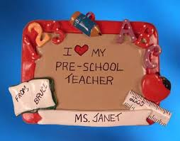 teacher christmas ornaments free personalization