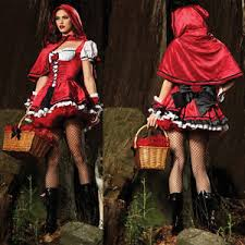 Riding Costumes Halloween Women Deluxe Red Riding Hood Fancy Dress Party