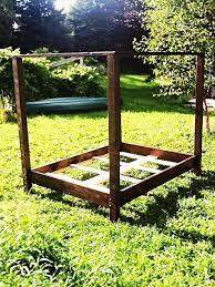 Pallet Bed Frame Plans Diy Pallet Canopy Bed Frame Pallet Furniture Diy