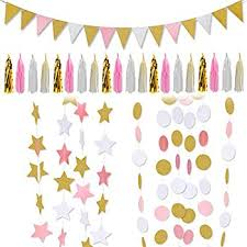 pink and gold party supplies pink and gold birthday party decorarations glitter