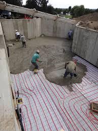 basement concrete slab building a house