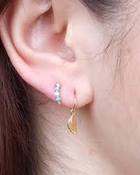 ear piercing hoop 8mm gold cartilage hoop earring for 2nd and 3rd ear piercings