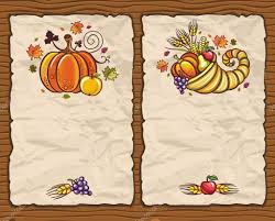 thanksgiving antique paper backgrounds stock vector dianka