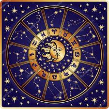 zodiac sign and constellations horoscope circle retro u2014 stock