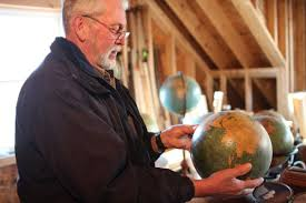 larry wahl keeps maps globes ice cream scoops for posterity