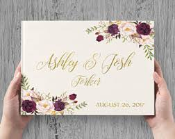 wedding book wedding guest books etsy