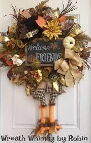 thanksgiving burlap mesh pilgrim turkey wreath in brown orange