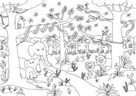 jungle forest animals jungle coloring pages for various in