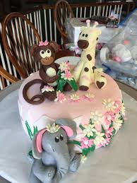 baby shower cake jungle theme cakecentral com