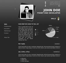 Resume Portfolio Template 40 Great Html Cv Resume Templates Template Idesignow