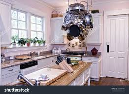 island kitchen island pot hanger