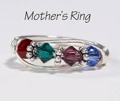 s day birthstone rings s 4 birthstone ring personalized sterling silver