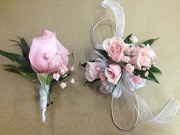 pink corsage pink and white corsage and boutonniere set in smyrna ga floral