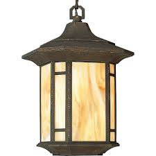 outdoor hanging ceiling lights progress lighting arts and crafts collection weathered bronze