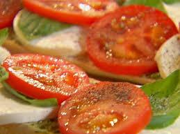 ina garten tomato open faced tomato mozzarella and basil sandwich recipe ina garten