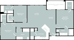 Cascade Floor Plan 3 Bed 3 Bath Apartment In Little Elm Tx The Luxe 3eighty