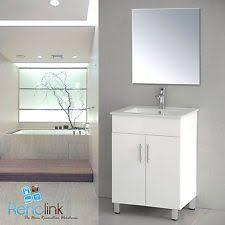 600mm wall hung bathroom vanity unit with polyurethane finish