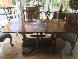 unique vintage and antique tables form function raleigh drop leaf pedestal dining table 3 leaves extra leg