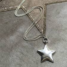 silver star necklace pendant images Hultquist jewellery long silver star pendant necklace jpg